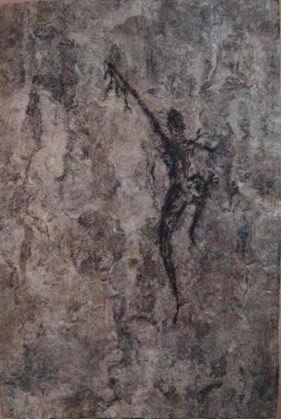 Dancer on Bark Paper